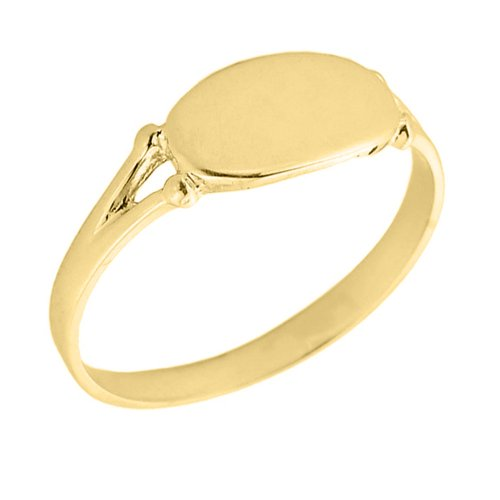 old Signet Ring (Size 4) (Yellow Gold Womens Signet Ring)
