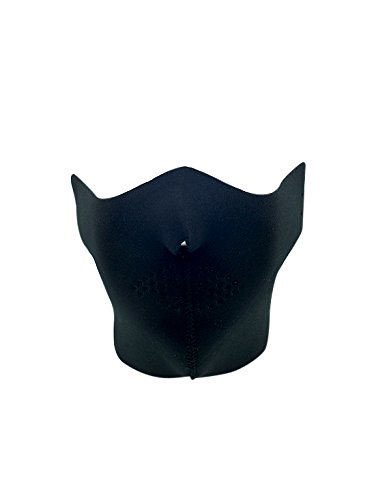 Half Face Neoprene Ski Mask W/ Innovative Designs. Great Protection While Riding Motorcycles, Dirt Bikes, ATV's, Waverunners & Skiing. Breathable Fabric w/ Nose cut out. Adjustable (BLACK (Baps Halloween Costume)