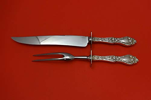 Sterling Carving Piece 2 - Lily by Frank Whiting Sterling Silver Roast Carving Set 2-Piece Hollow Handle WS