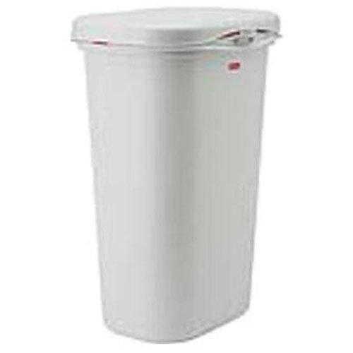 Rubbermaid Spring-Top Wastebasket, White, 13-Gallon, FG5L5806WHT by Rubbermaid