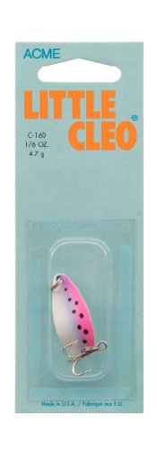 Acme Little Cleo Fishing Terminal Tackle, 1/6-Ounce, Rainbow Trout