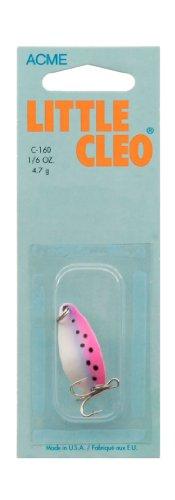 acme Little Cleo Fishing Terminal Tackle, 1/6-Ounce, Rainbow - Trout Rainbow Spoon