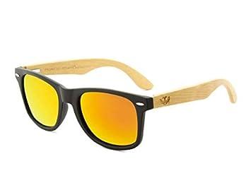 Gafas de Madera Mosca Negra Modelo Mix Solid Black Wood Sunglasses: Amazon.es: Deportes y aire libre