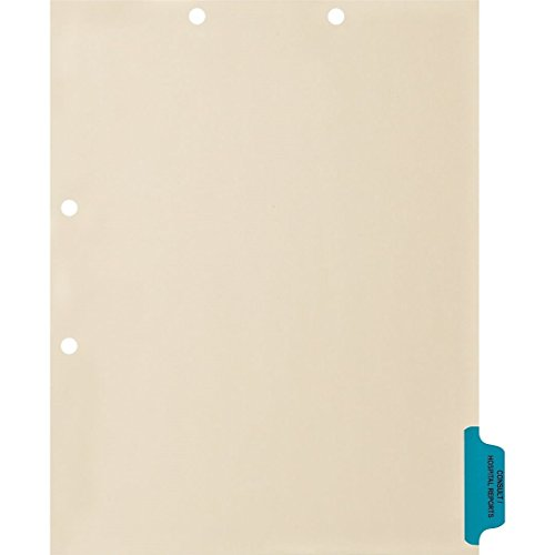 Medical Arts Press Match Colored Side Tab Chart Dividers- Consult/Hospital Reports, Position 6 (100/Pkg) ()