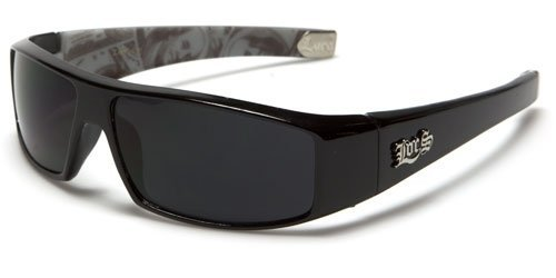 LOCS MENS NEW HARDCORE BLACK GANGSTA BIKER RIDING MONEY PRINT SUNGLASSES (BLACK/MONEY PRINT - Inside Sunglasses