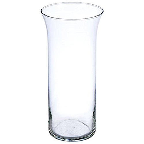Glass Cylinder Vases with Flared Rims, 9-in. - Set of 12