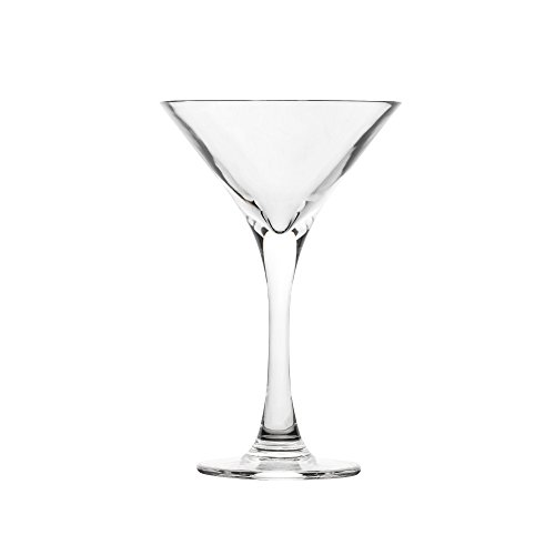 Blazun PS-A9 Unbreakable Polycarbonate Martini Cocktail Barware (Set of 6), 6.5 oz, Clear (Polycarbonate Glass Martini)