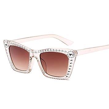 YXCCHZS Gafas De Sol Rectángulo Gafas De Sol Mujer Moda ...