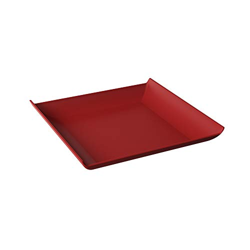 Prato Quadrado Casual Coza Vermelho