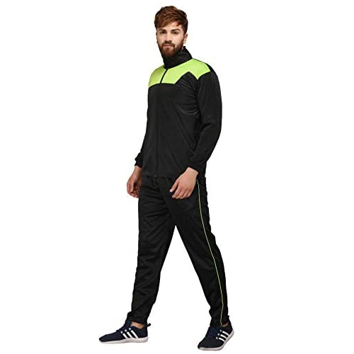31qSURyCW%2BL. SS500  - Fashion7 Men's Polyester Tracksuit - Black Tracksuit for Men Sports
