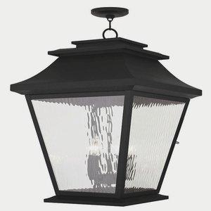 Livex Lighting 20247-04 Hathaway 5-Light Outdoor Hanging Lantern Lantern, Black