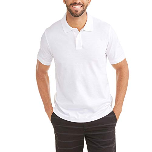 George Mens Stretch Pique Short Sleeve Polo Shirt (XXXL 54/56, Arctic White)