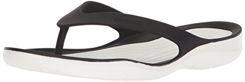 Femme Women Tongs black Noir Crocs 066 Swiftwater Flip white zEqpnpIaP