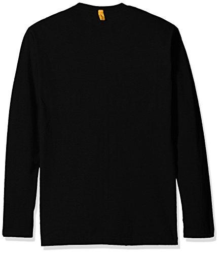 Caterpillar - Curved Banner Long Sleeve T-Shirt - Black - Med - UK Med EU / Med UK