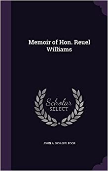 Book Memoir of Hon. Reuel Williams