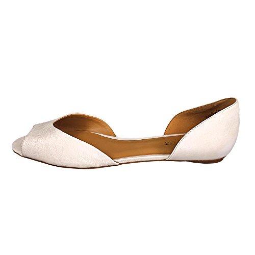 Nine West Women's Byteme Ballet Flat,White,8 M US