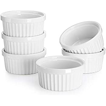 Sur La Table Porcelain Round Ramekin with Ribbed Sides HB4618 5 oz.