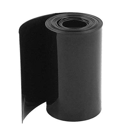 Battery Pack Heat Shrink Wrap,5M Length 130MM Flat Width Insulator PVC Heat Shrink Tubing for Battery and Electrical
