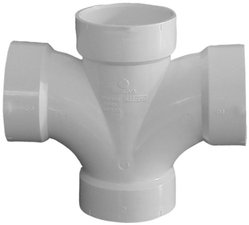 Genova Products 73515 Double Sanitary Tee Pipe Fitting, 1 (Vertical Drain Tee)