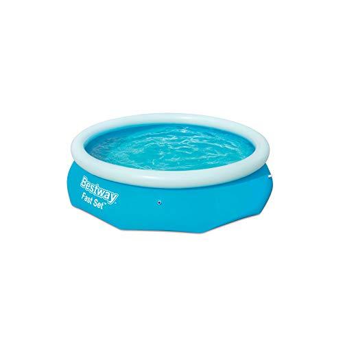 31qSb%2BUIuUL. SS500 La forma redonda proporciona una instalación más fácil, una mayor estabilidad y menos espacio desperdiciado Uso inmediato, este completo conjunto de piscina para jardín se hincha rápidamente La válvula de drenaje con control de flujo incorporada y el adaptador incluido le permiten conectar una manguera de jardín para un drenaje simple y rápido de la piscina