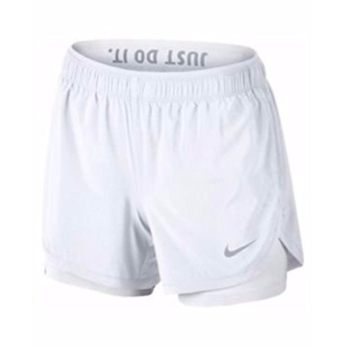 Nike Womens Flex 2-in-1 Shorts (White, Small) (3 Pack)