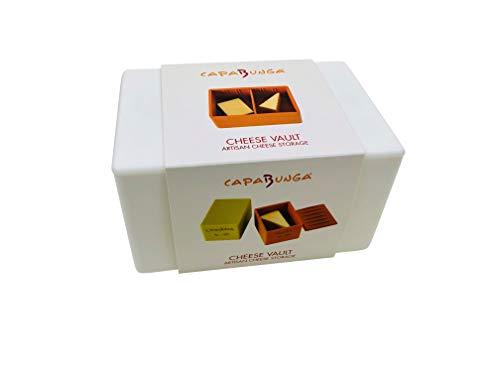 (Capabunga CV3 Cheese Vault Food Storage Box, One Size, White)
