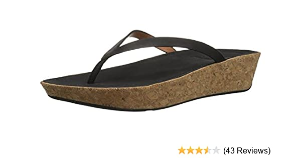 161106c048 Amazon.com | FitFlop Women's Linny Toe-Thong Sandals-Leather Wedge | Sandals