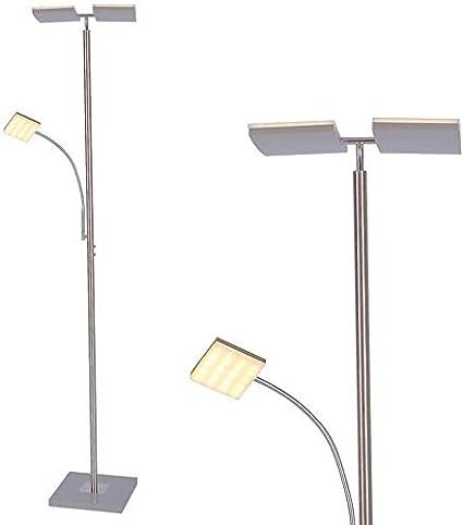 Lámpara de Pie Led Moderno con Brazo Lectura 196cm Altura 2x11W ...