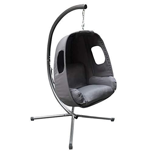 Grey Hanging Egg Chair With Stand Astonshedsuk