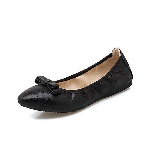 Planos Zapatos el de black Zapatos Mujeres Individuales de La Suave Profundos Poner de Moda señaló Mujeres Zapatos Plegables Las Fondo su Las Zapatos en Baile Bolso Poco Embarazadas Zapatos FLYRCX n6vqYawxq