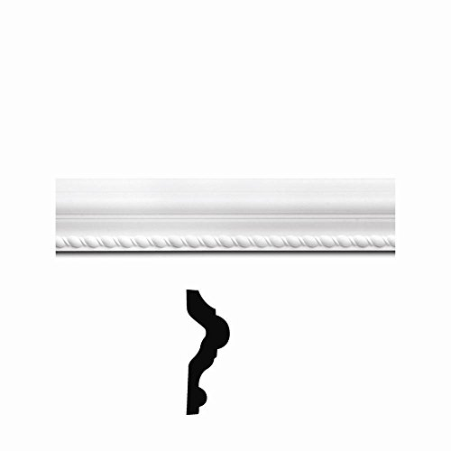 Focal Point FP15160 1-1/8 in. x 3-1/4 in. x 8 ft. Primed Polyurethane Rope Chair Rail ()