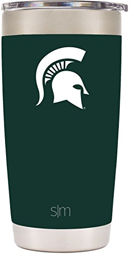 Michigan State Spartans Mug (Simple Modern 20oz Cruiser Tumbler - Michigan State Spartans Vacuum Insulated 18/8 Stainless Steel Tailgating Cup Travel Mug - Michigan State)