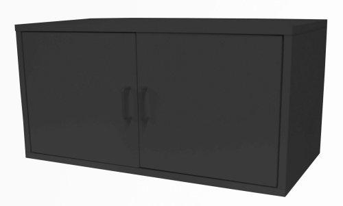 Foremost 390606 Modular Large 2-Door Cube Storage System, Black
