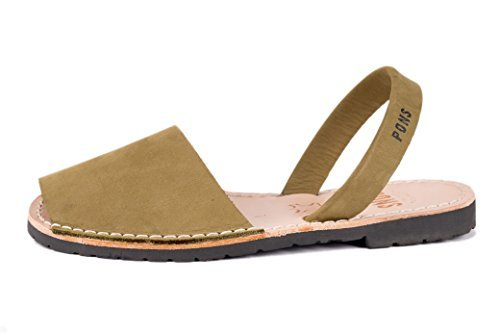 Pons 510 - Avarca Classic Style Women - Olive - 41 (US 11) ()