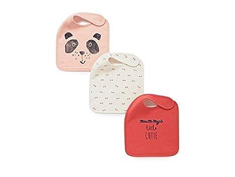 Delantal para niños pequeños 3 piezas Animal patrón Toddler bebé saliva toallas bebé baberos Drool baberos