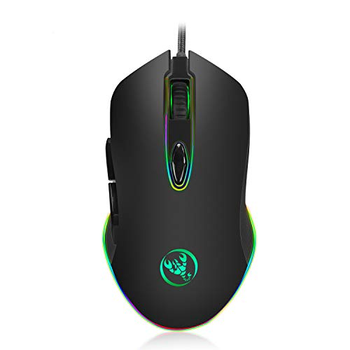 - WISAGI Gaming Mouse Wired Chroma RGB Backlit With 4800DPI,6 Programmable Keys,Ergonomic Optical PC Computer Gaming Mice Support Windows 2000/XP/win7/win8/win10 vista 32bit IOS or Latest.