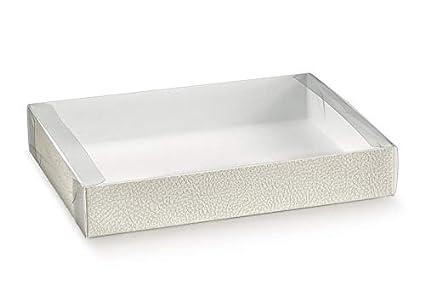 10 piezas caja Pastelería estuche PVC con bandeja Piel ...