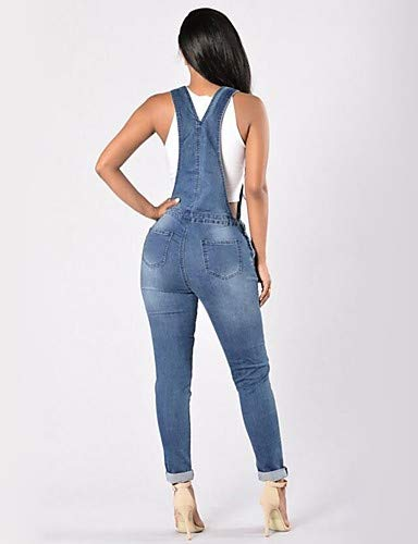 Blue Unita pantaloni Tinta Skinny Jeans Lavoro Da Yfltz Chic Donna OapnxH
