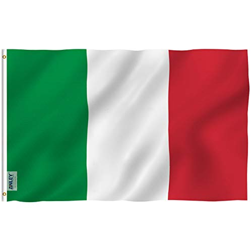 Anley [Fly Breeze 3x5 Foot Italy Flag - Vivid Color and UV Fade Resistant - Canvas Header and Double Stitched - Italy National Flags Polyester with Brass Grommets 3 X 5 Ft]()