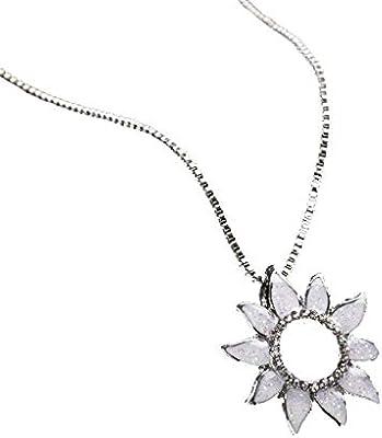 Qiiueen Collares Mujeres, Colgante De La Joyería del Collar del Girasol del Encanto De La Moda De Las Señoras De Las Señoras: Amazon.es: Juguetes y juegos