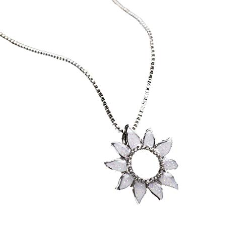 - Sunflower Pendant Necklace Simple Personalized Handmade Drop Pendant Choker Necklace Birthday Gifts for Women Gogoodgo
