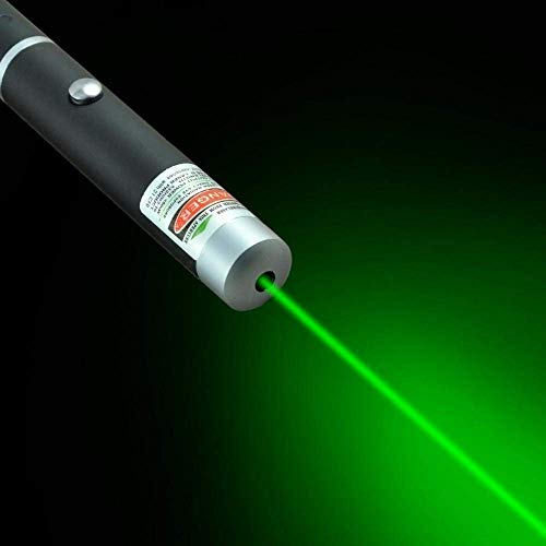 EXSESON Green Multipurpose Laser Light Disco Pointer Pen Lazer Beam with Adjustable Antena Cap to Change Project Design…