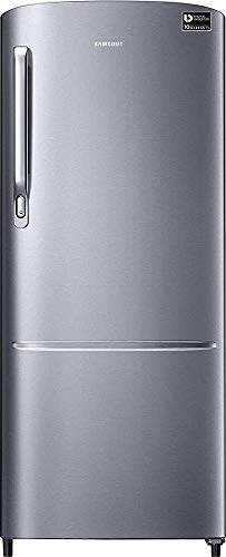 Renewed  Samsung 212 L 3 Star Inverter Direct Cool Single Door Refrigerator  Elegant Inox  Light Doi Metal