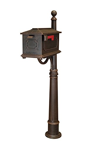 Kingston Curbside Mailbox with Ashland Mailbox Post Unit Color: Copper by Special Lite Products