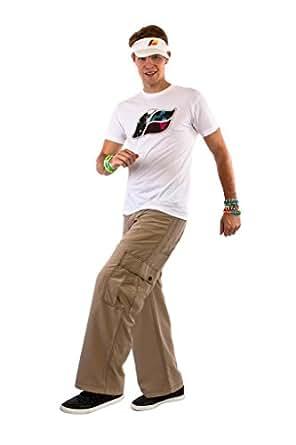 "Kikwear Men's 23"" Microsuede Cargo Pants 44 Khaki"