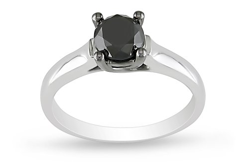 10K White Gold Diamond Ring, (1 cttw), Size 7