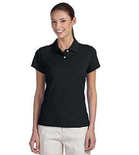 - adidas Golf Womens Climalite Tour Pique Short-Sleeve Polo (A85) -Black/Whit -2XL