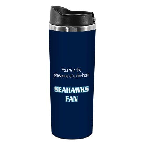 Tree-Free Greetings TT02135 Seahawks Football Fan 18-8 Double Wall Stainless Artful Tumbler, 14-Ounce