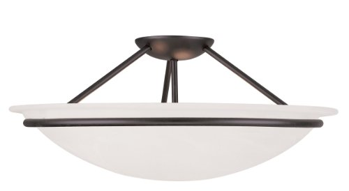 Livex Lighting 4825-04 Newburgh 3-Light Ceiling Mount, Black
