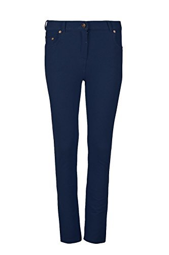 Be Jealous femmes skinny jeans taille haute Leggings extensible ajusté Coloré Pantalon Jegging UK grande taille 8-26 - Bleu marine, Large (UK 12)